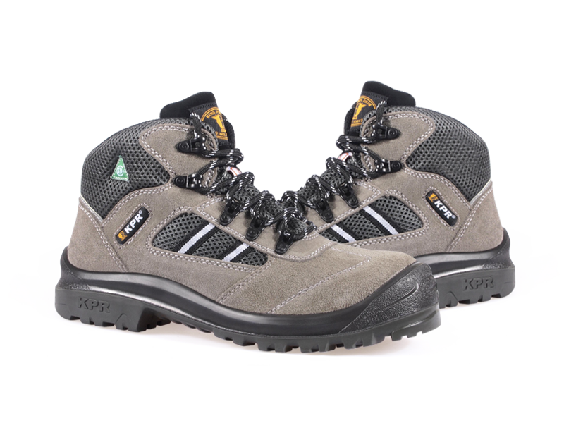 KPR M-Series M-027-2 6 inch Safety Boot Lightweight Lace Up Grey