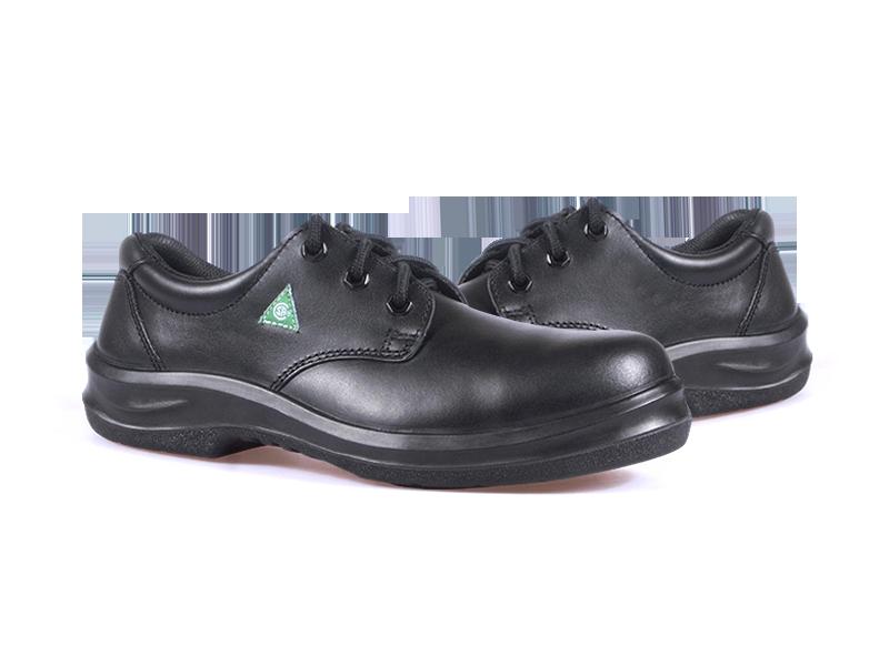 KPR O-Series O-018A1 Comfort Lace up Slip Resistant Safety Oxford Black