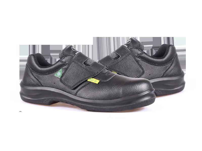 KPR O-Series O-090B Lightweight Velcro Slip Resistant Safety Oxford Black