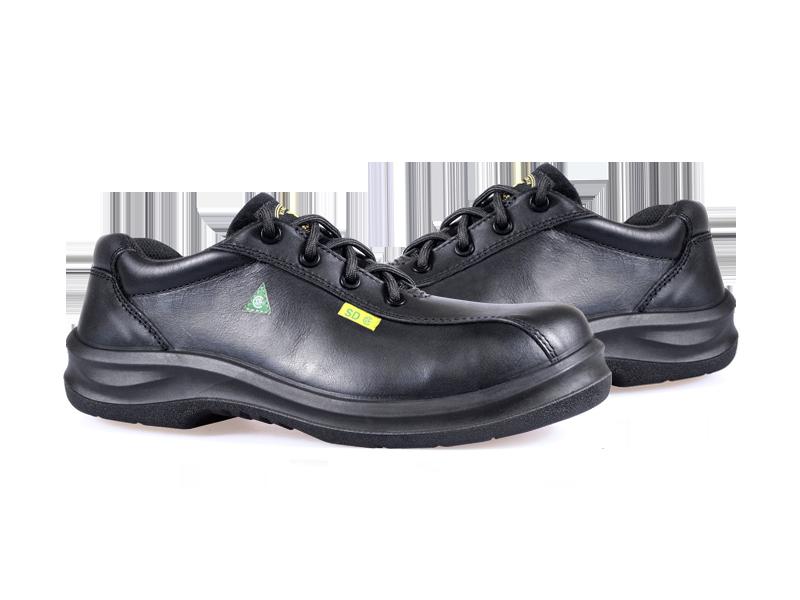 KPR O-Series O-217A1 Comfort Lace up Slip Resistant Safety Oxford Black
