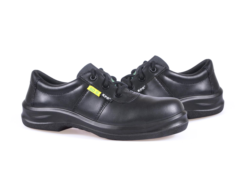 KPR O-Series O-800-1 Lightweight Lace up Slip Resistant Safety Oxford Black