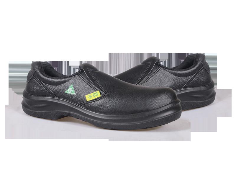 KPR O-Series O-807B Slip on Slip Resistant Safety Oxford Black