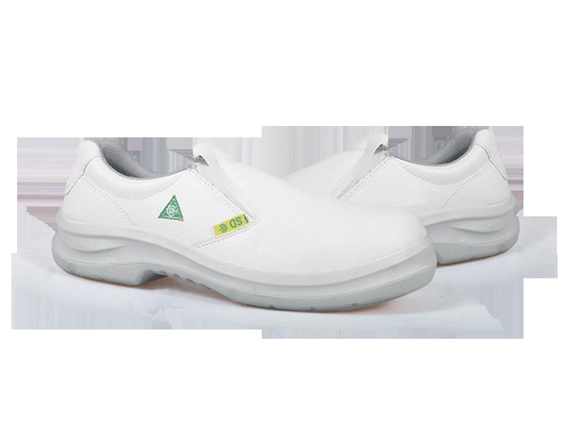 KPR O-Series O-807W Slip on Slip Resistant Safety Oxford White